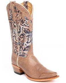 Shyanne Women's Rosita Western Boots - Snip Toe, Brown, hi-res