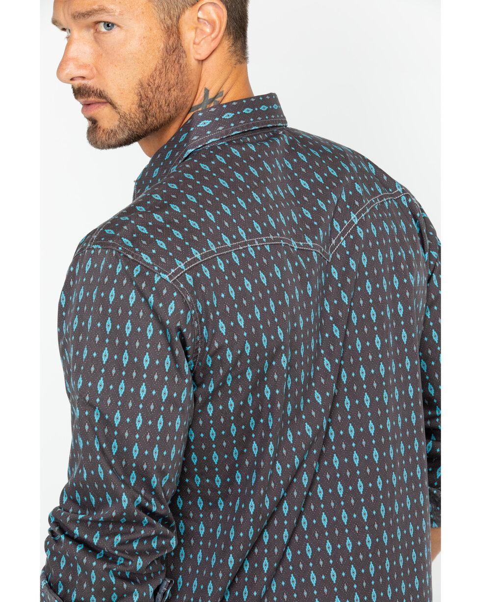 Wrangler Men's Long Sleeve Brown Retro Premium Print Shirt , , hi-res
