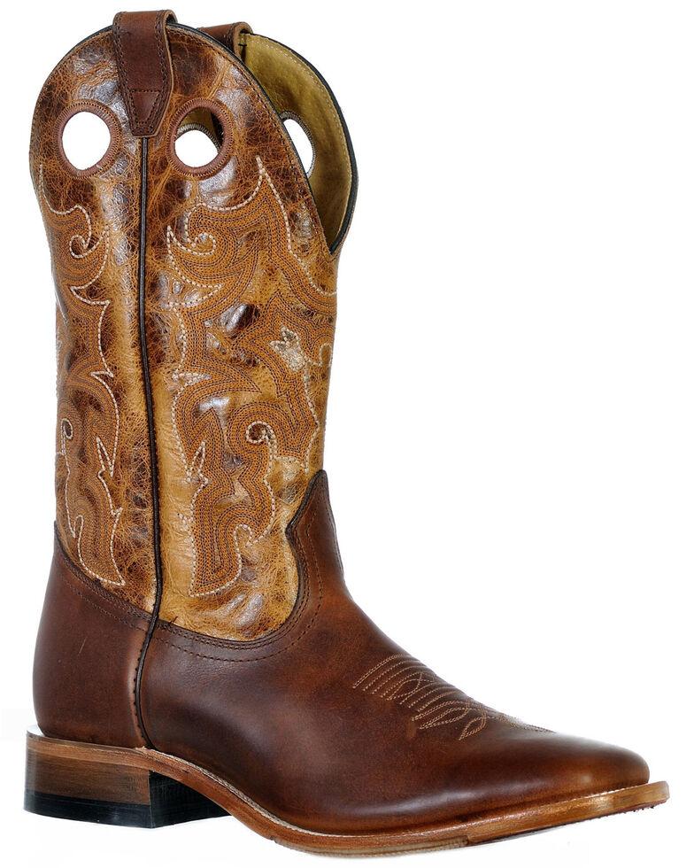 Boulet Men's Grizzly Sand Western Boots - Wide Square Toe, Cognac, hi-res