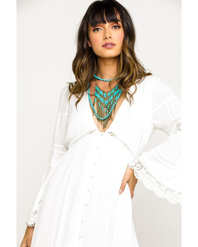 Band of Gypsies Women's Baja Duster Dress, White, hi-res