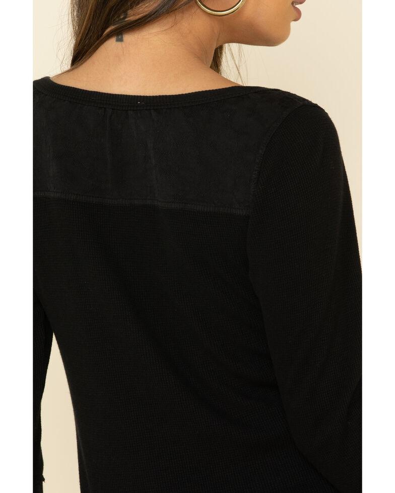 Idyllwind Women's Black Starlit Steamed Henley Top, Black, hi-res