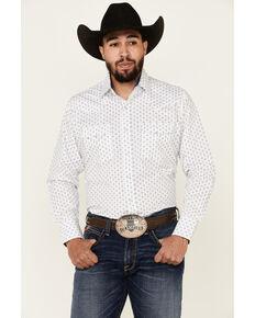 Ely Walker Men's Assorted Diamond Geo Print Long Sleeve Snap Western Shirt - Big, Multi, hi-res