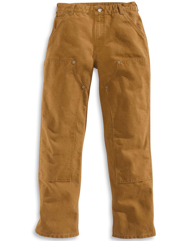 Carhartt Double Front Work Dungaree Pants, Brown, hi-res