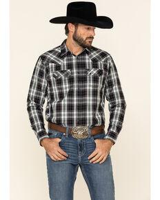 Cody James Men's Willow Plaid Long Sleeve Western Shirt , Black/blue, hi-res