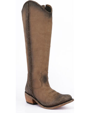Liberty Black Women's Vegas Taupe Tall Boots - Round Toe , Taupe, hi-res