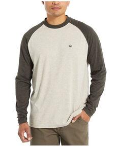 Wolverine Men's Olive & Black Color-Block Brower Long Sleeve Baseball Work T-Shirt , Olive, hi-res