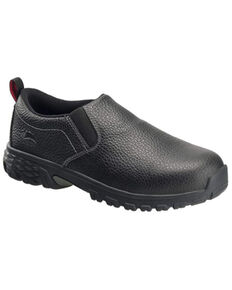 Avenger Men's Flight Work Shoes - Alloy Toe, Black, hi-res