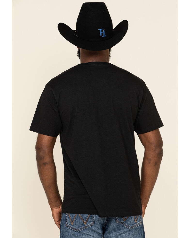HOOey Men's Black Richie Graphic Short Sleeve T-Shirt , Black, hi-res