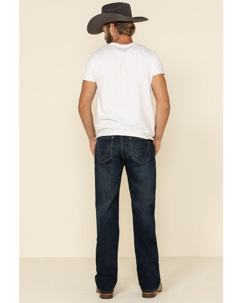 Rock & Roll Denim Men's Dark Double Barrel Reflex Stretch Relaxed Straight Jeans , Indigo, hi-res