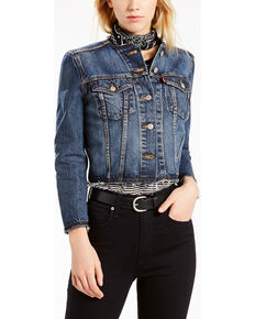Levi's Women's Seamed Trucker Denim Jacket, Indigo, hi-res