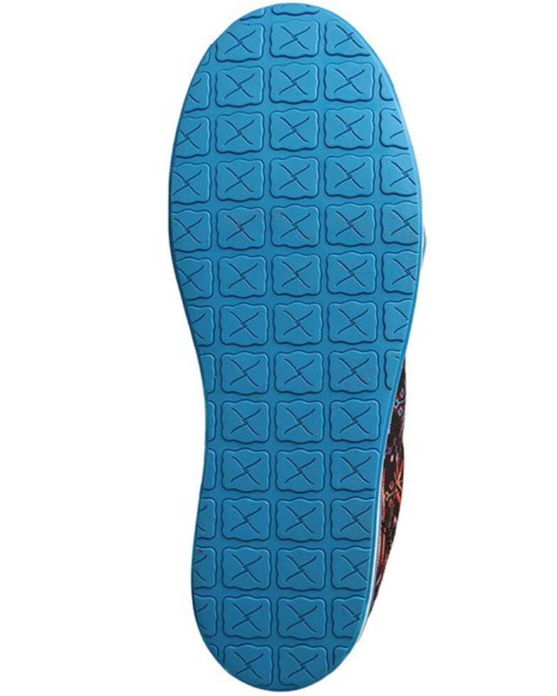Twisted X Women's Blue Aztec Casual Shoes - Moc Toe, Blue, hi-res