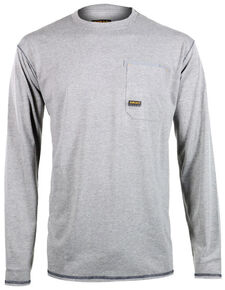 Ariat Men's Rebar Crew Long Sleeve Shirt, Hthr Grey, hi-res