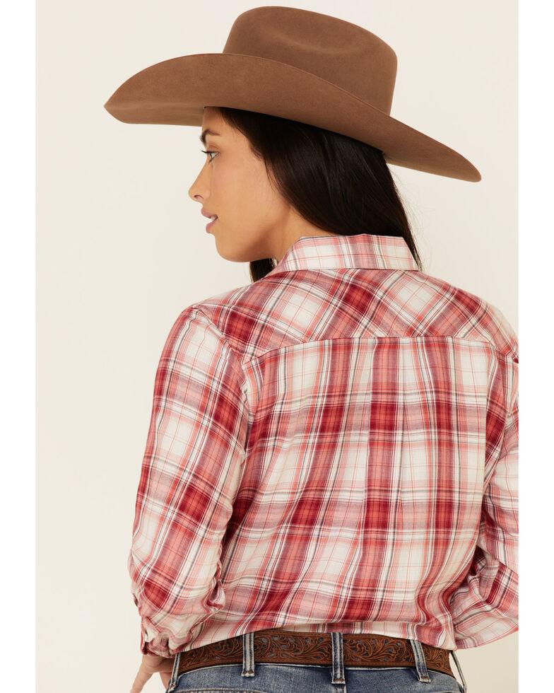 Ariat Women's R.E.A.L Billie Jean Plaid Long Sleeve Western Core Shirt , Red, hi-res