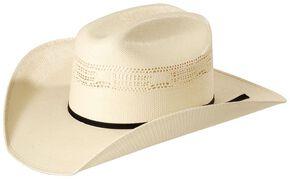 Justin 10X Cutter Straw Cowboy Hat, Natural, hi-res