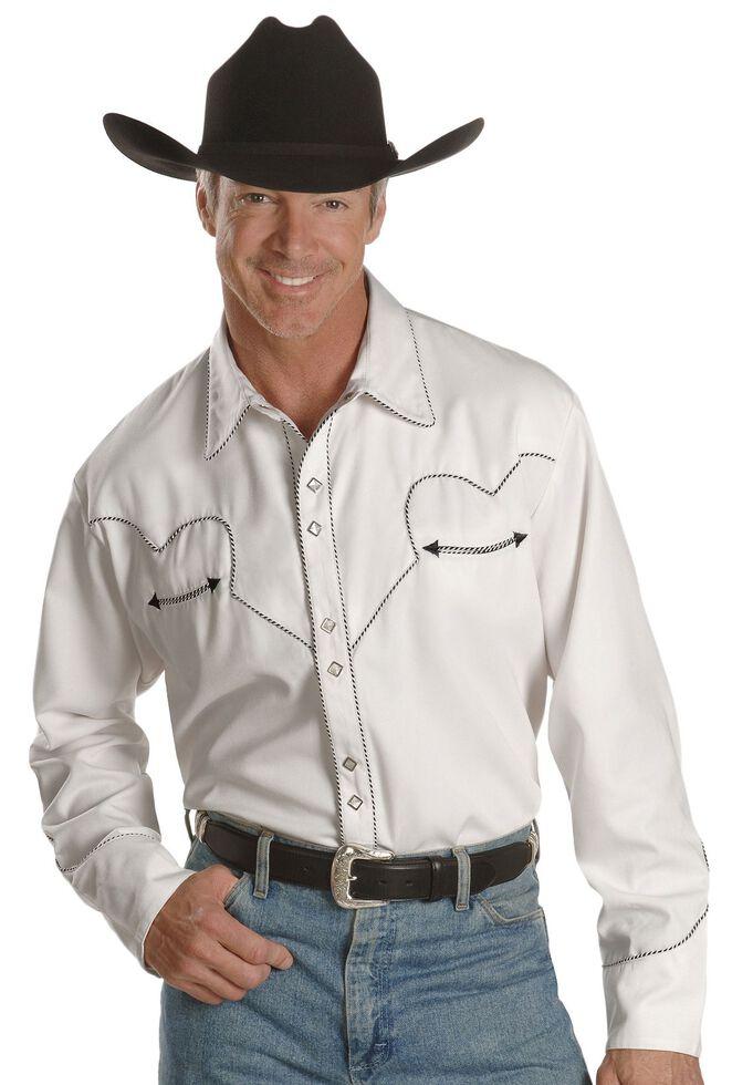 Scully White Retro Western Shirt, White, hi-res