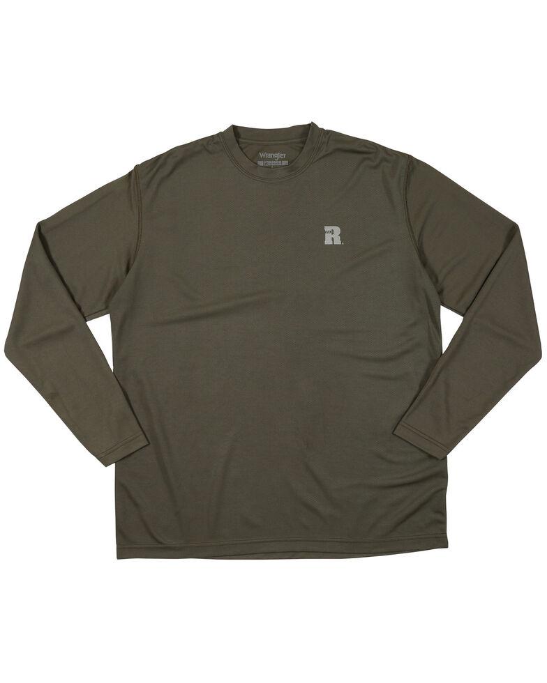 Wrangler Riggs Men's Green Crew Performance Long Sleeve Work T-Shirt - Big & Tall, Green, hi-res
