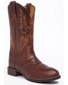 Ariat Men's Nutmeg Heritage Stockman Boots - Round Toe , Brown, hi-res