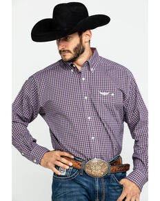 Ariat Men's Ride Multi Check Plaid Long Sleeve Western Shirt , Multi, hi-res
