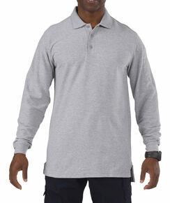 5.11 Tactical Utility Long Sleeve Polo Shirt - 3XL, Hthr Grey, hi-res