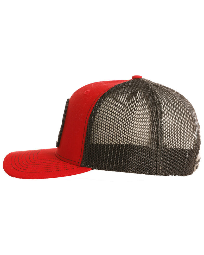 Rock & Roll Denim Men's Bull Rider Sunset Ball Cap, Red, hi-res