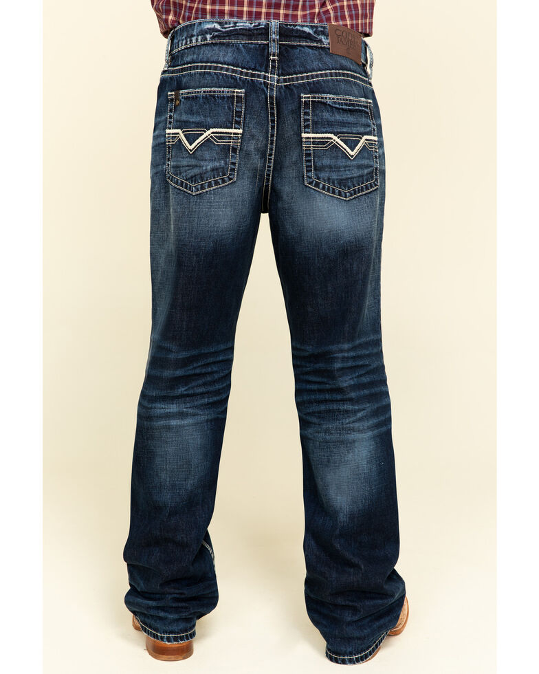 Cody James Core Men's Pacer Dark Rigid Relaxed Straight Jeans , Blue, hi-res