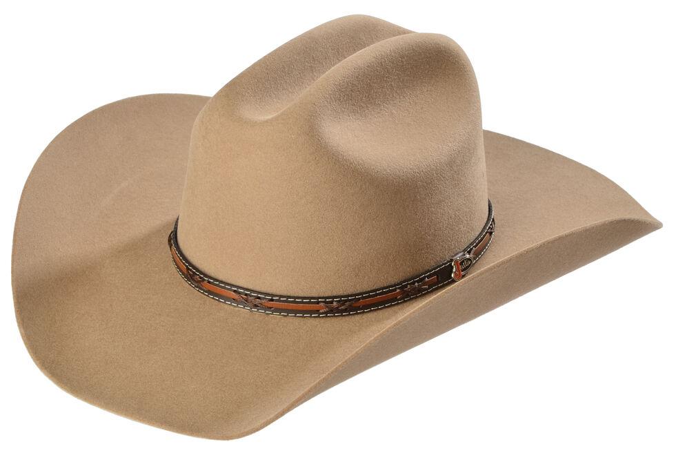 Justin 2X Gallop Fawn Wool Felt Cowboy Hat, Fawn, hi-res