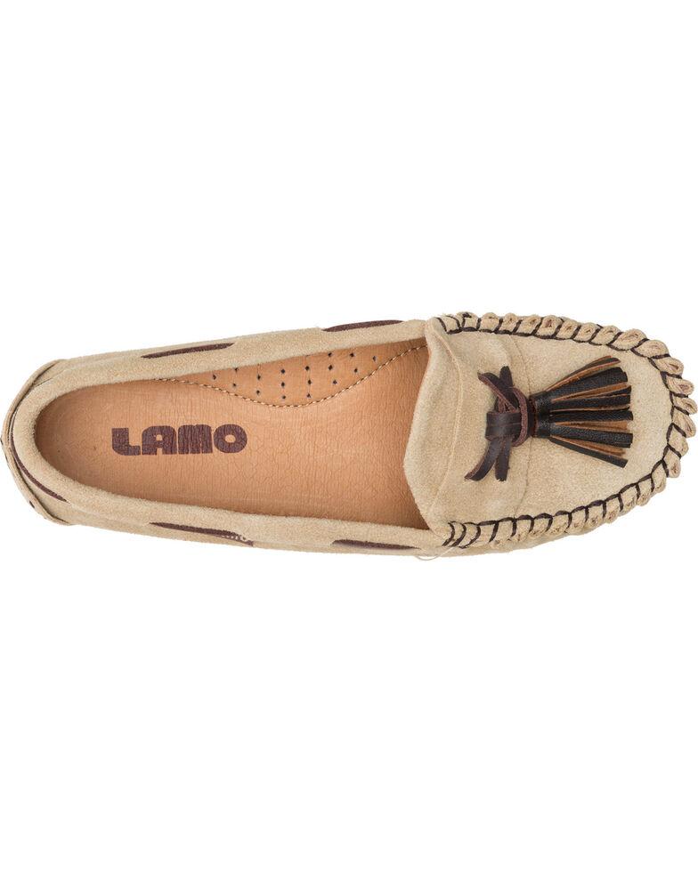 Lamo Women's Leah Tasseled Moccasins - Moc Toe, Tan, hi-res