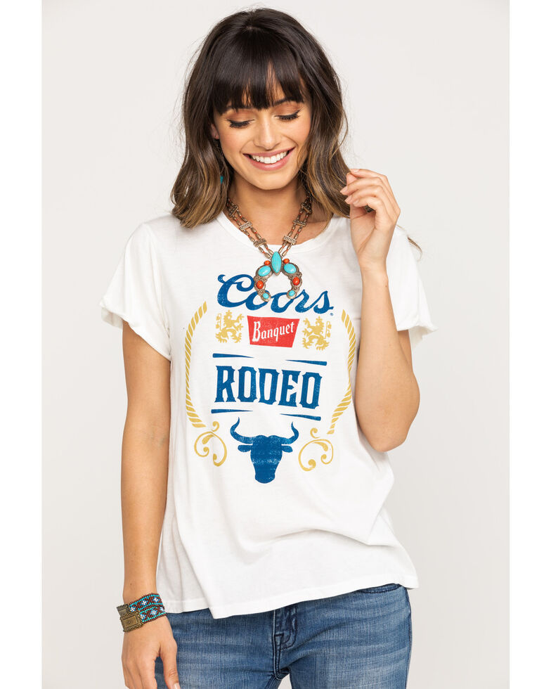 Recycled Karma Women's Coors Banquet Graphic Tee, White, hi-res