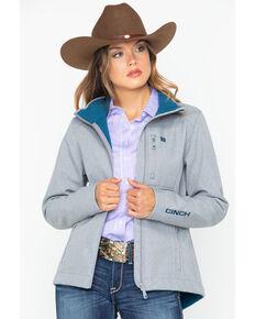 Cinch Women's Western Softshell Jacket , Grey, hi-res
