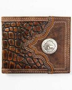 Cody James Brown Crocodile Tooled Bifold Wallet, Brown, hi-res