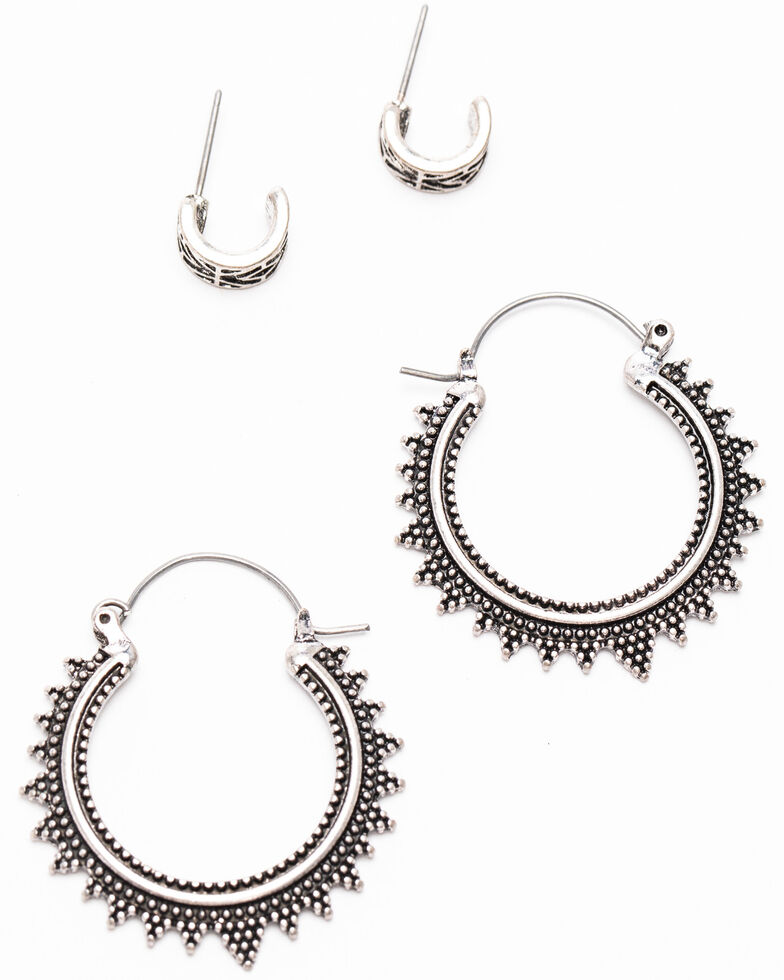Shyanne Women's Autumn Two Piece Earring Set, Silver, hi-res