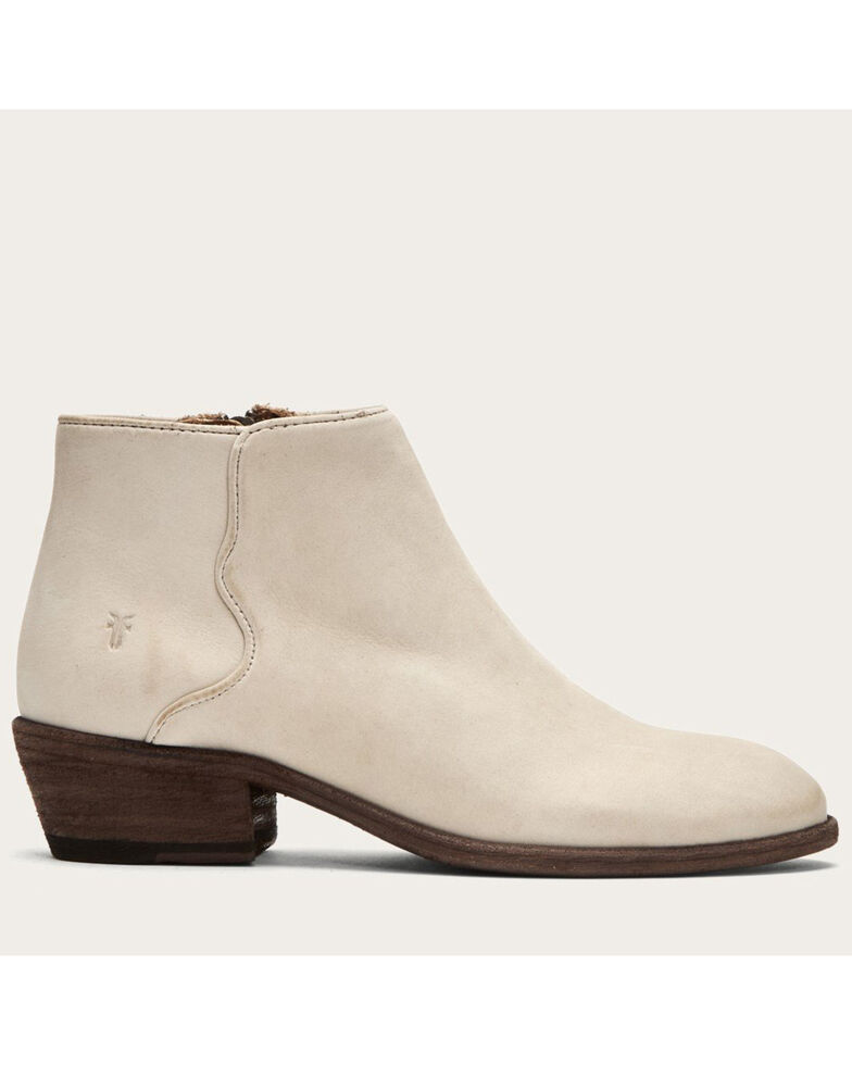 Frye Women's Ivory Carson Piping Booties - Round Toe, Ivory, hi-res