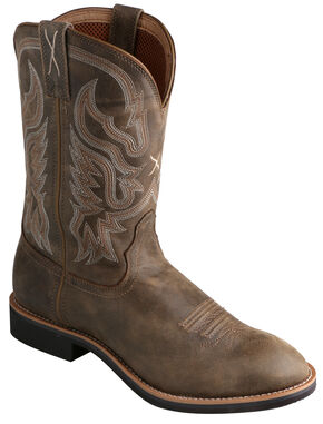 Twisted X Bomber Brown Top Hand Cowboy Boots - Round Toe, Bomber, hi-res