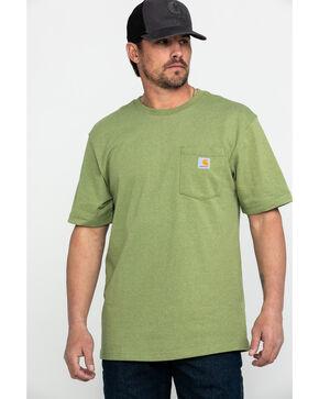 Carhartt Men's Green Short Sleeve Work T-Shirt , Green, hi-res