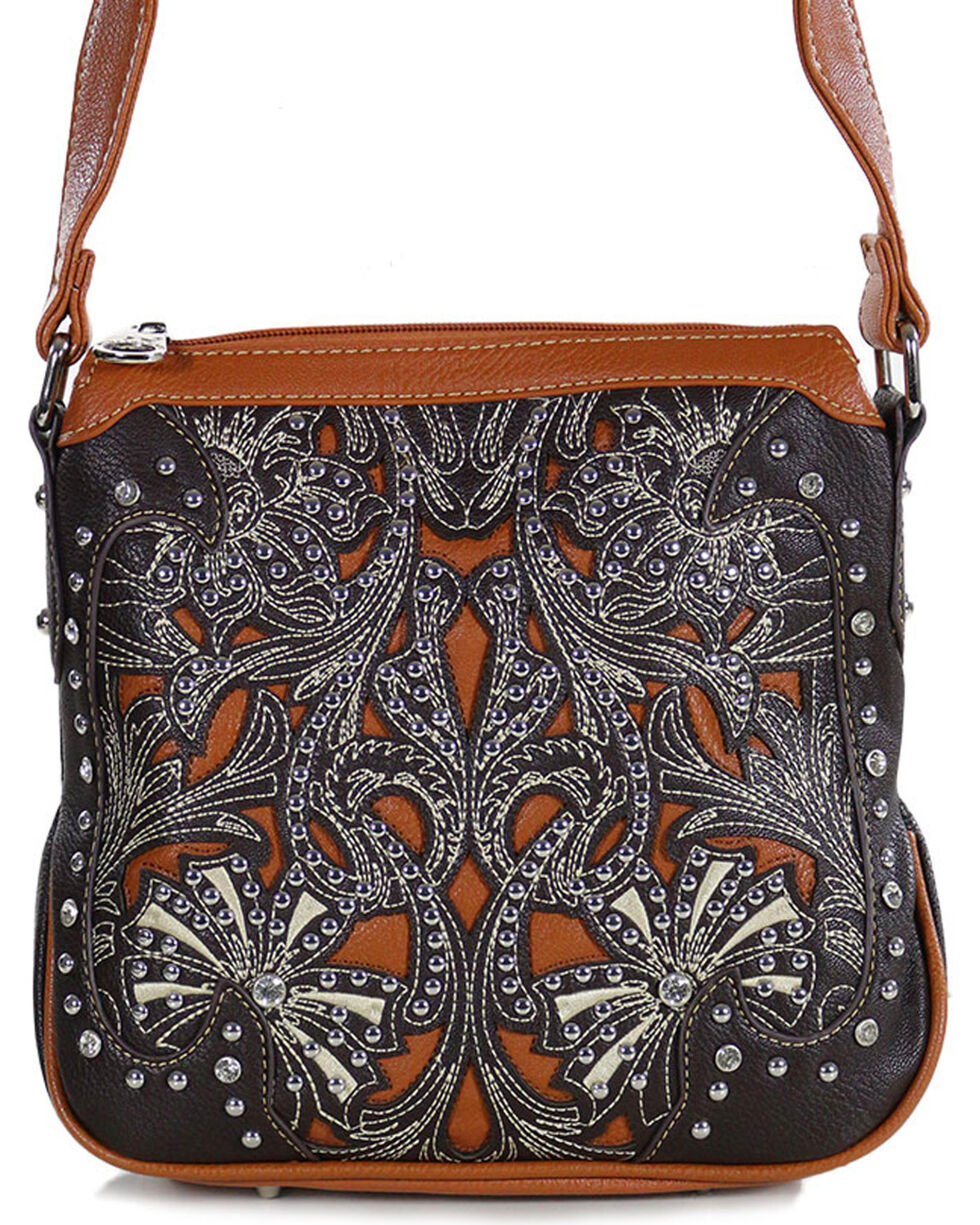 Montana West Women's Taupe Concealed Carry Crossbody Purse , Taupe, hi-res