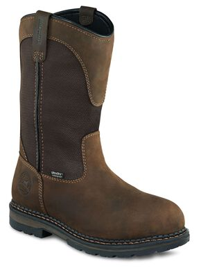 Irish Setter by Red Wing Shoes Men's Ramsey EH Waterproof Pull-On Work Boots - Aluminum Toe, Brown, hi-res