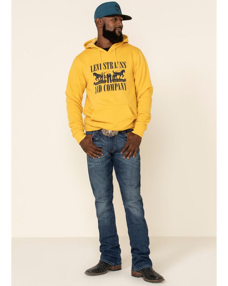 Levi's Men's Yolk Yellow Horses Graphic Hooded Sweatshirt , Yellow, hi-res