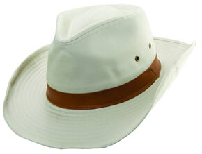 Scala Men's Bark Twill Outback Hat, Putty, hi-res