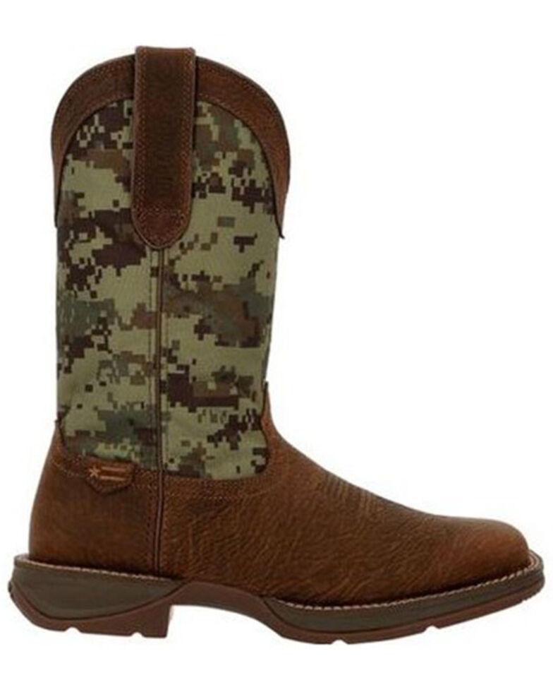 Durango Men's Rebel Camo Western Boots - Square Toe, Brown, hi-res