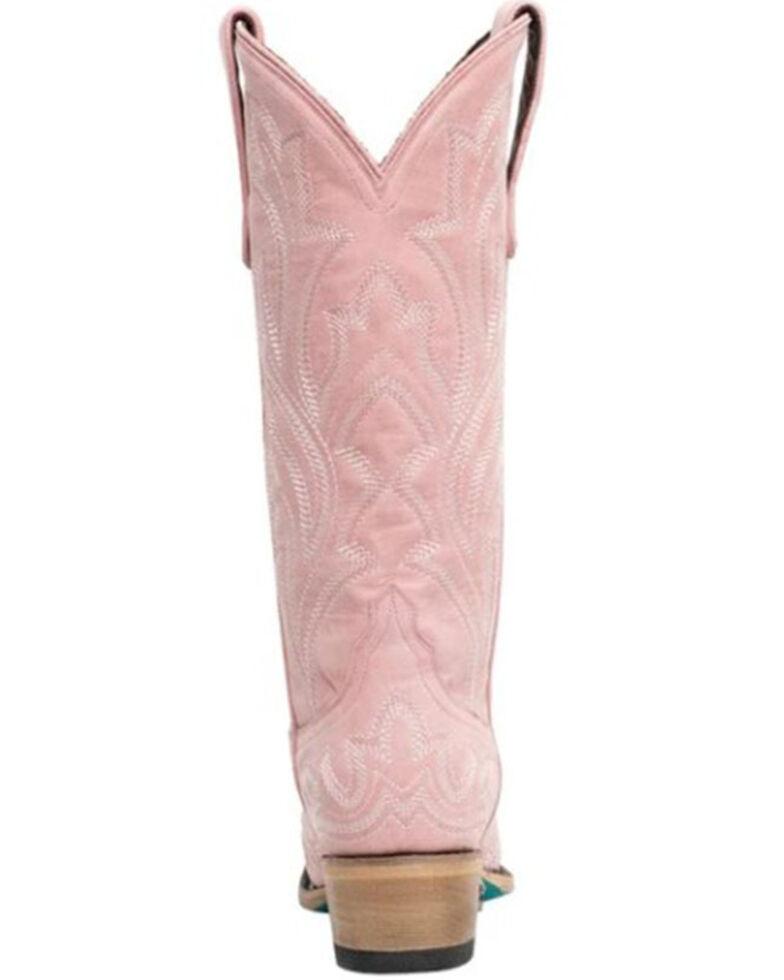Lane Women's Saratoga Western Boots - Snip Toe, Pink, hi-res