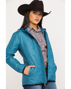 Justin Women's Teal Softshell Jacket, Teal, hi-res
