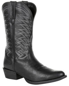 Durango Men's Rebel Frontier Western Boots - Round Toe, Black, hi-res