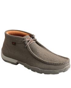 Twisted X Men's Grey Chukka Driving Shoes - Moc Toe, Grey, hi-res