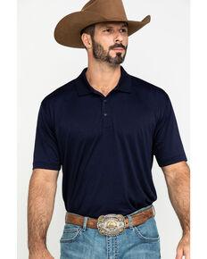 Cody James Core Men's Navy Heather Knit Short Sleeve Polo Shirt , Navy, hi-res