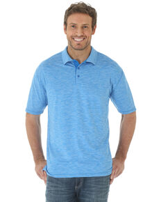 Wrangler 20X Men's Light Blue Advanced Comfort Performance Short Sleeve Polo Shirt , No Color, hi-res