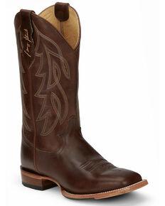 Justin Men's Honkytonkville Western Boots - Wide Square Toe, Brown, hi-res
