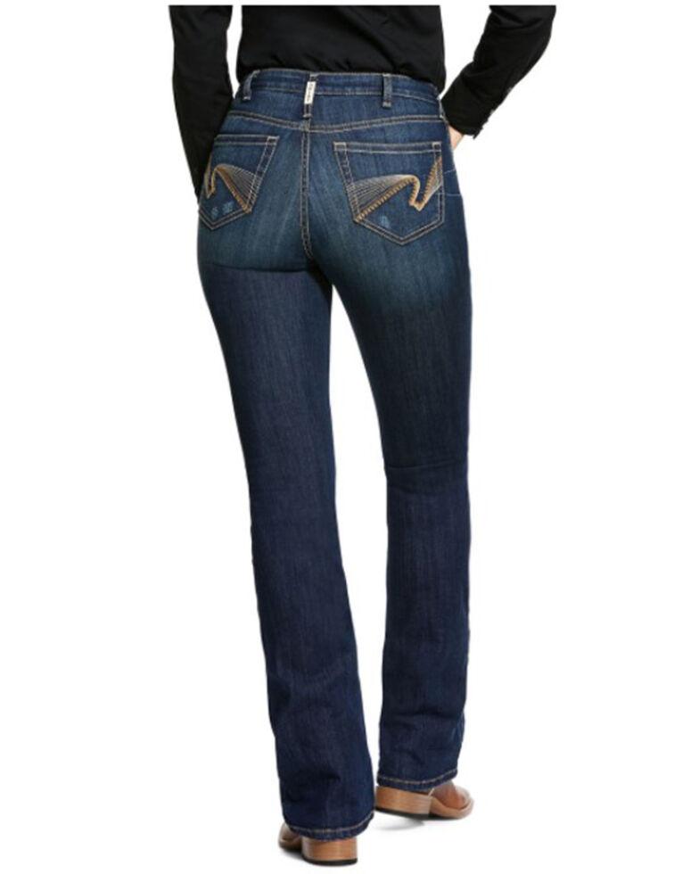 Ariat Women's Marine Stitch Bootcut Jeans, Dark Blue, hi-res