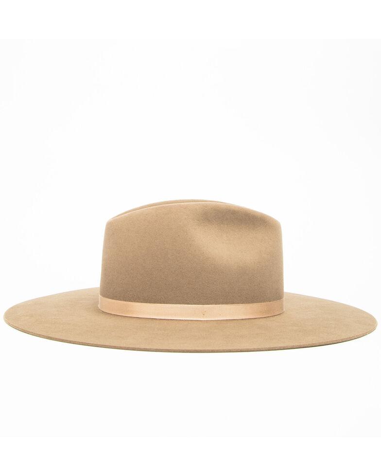 Rodeo King Women's 7X Tracker Pinch Front Fur Felt Hat , Pecan, hi-res