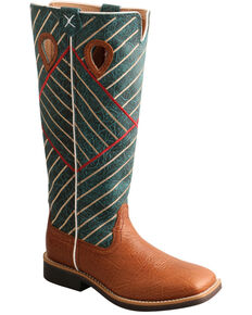 Twisted X Youth Boys' Buckaroo Western Boots - Square Toe, Cognac, hi-res
