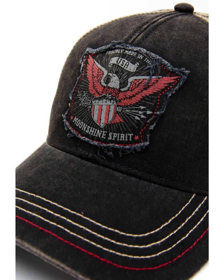 Moonshine Spirit Men's Rugged Eagle Mesh-Back Ball Cap , Black, hi-res